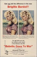 "Movie Posters:Foreign, Babette Goes to War (Columbia, 1960). Folded, Very Fine-. One Sheet (27"" X 41""). Foreign.. ..."