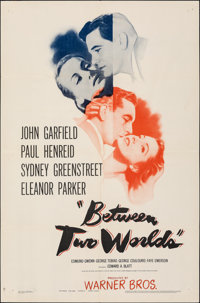 """Between Two Worlds (Warner Bros., 1944). Folded, Very Fine. One Sheet (27"""" X 41""""). Mystery"""