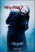 """Movie Posters:Action, The Dark Knight (Warner Bros., 2008). Rolled, Very Fine+. One Sheet (27"""" X 40"""") DS Advance, """"Why So Serious"""" Style. Action...."""