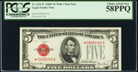 Fr. 1531* $5 1928F Wide I Legal Tender Star Note. PCGS Choice About New 58PPQ