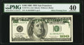 Partial Offset Printing of Back to Face Error Fr. 2175-L $100 1996 Federal Reserve Note. PMG Extremely Fine 40