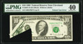 Printed Tear Error Fr. 2031-D $10 1995 Federal Reserve Note. PMG Extremely Fine 40