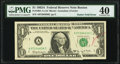 Two Gutter Folds Error Fr. 1901-A $1 1963A Federal Reserve Note. PMG Extremely Fine 40