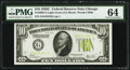Small Size:Federal Reserve Notes, Fr. 2003-G $10 1928C Federal Reserve Note. PMG Choice Uncirculated 64.. ...