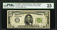 Fr. 1953-F $5 1928C Federal Reserve Note. PMG Very Fine 25