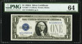 Fr. 1601* $1 1928A Silver Certificate Star. PMG Choice Uncirculated 64