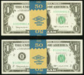 Small Size:Federal Reserve Notes, Fr. 1900-A $1 1963 Mule Federal Reserve Notes. Fifty Consecutive Examples;. Fr. 1900-B $1 1963 Mule Federal Reserve Notes.... (Total: 100 notes)