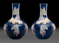 Ceramics & Porcelain, A Pair of Chinese Enameled Eight Immortals Porcelain Vases, Qing Dynasty, 19th century. Marks: Six-character Qia... (Total: 2 Items)