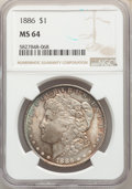 1885-O $1 MS64 NGC. This lot will also include the following: (2)1886 $1 MS64 NGC