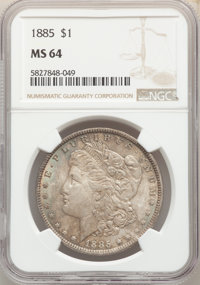 1885 $1 MS64 NGC. This lot will also include the following: (2)1889 $1 MS64 NGC; and a 1900 $1 MS64 NGC