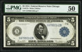 Large Size:Federal Reserve Notes, Fr. 871b $5 1914 Federal Reserve Note PMG About Uncirculated 50.. ...