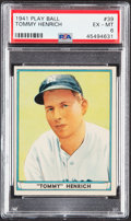 Baseball Cards:Singles (1940-1949), 1941 Play Ball Tommy Henrich #39 PSA EX-MT 6....