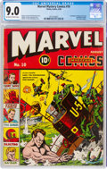 Golden Age (1938-1955):Superhero, Marvel Mystery Comics #10 (Timely, 1940) CGC VF/NM 9.0 Off-white to white pages....