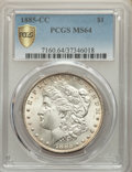 1885-CC $1 MS64 PCGS. PCGS Population: (8418/5905 and 392/388+). NGC Census: (3780/2582 and 83/97+). CDN: $600 Whsle. Bi...