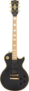 Musical Instruments:Electric Guitars, 1977 Gibson Les Paul Custom Black Solid Body Electric Guitar, Serial #73487029.. ...