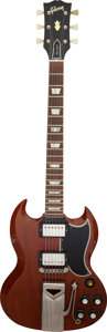 Musical Instruments:Electric Guitars, Circa 1960/1961 Gibson Les Paul SG Cherry Solid Body Electric Guitar, Serial #7716.. ...