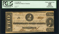 Confederate Notes:1862 Issues, T54 $2 1862 PF-11 Cr. 392 PCGS Apparent Choice About New 55.. ...