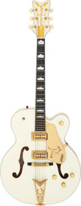 Musical Instruments:Electric Guitars, Rick Springfield's 1999 Gretsch White Falcon 6136 Semi-Hollow Body Electric Guitar, Serial # 999136-372....