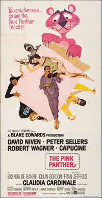 "The Pink Panther (United Artists, 1964). Folded, Very Fine-. Three Sheet (41"" X 79""). Jack Rickard Artwork. Co..."