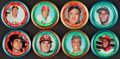 Baseball Cards:Sets, 1971 Topps Baseball Coins Complete Set (153) Plus Extras (9) and Pins (4)....
