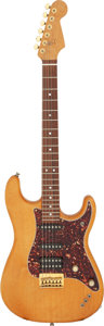 Musical Instruments:Electric Guitars, Rick Springfield's 1993 Warmoth Strat Natural Solid Body Electric Guitar, NVSN....