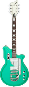 Musical Instruments:Electric Guitars, Rick Springfield's 2018 Eastwood Airline Sea Foam Green Solid Body Electric Guitar, Serial # 0601226....
