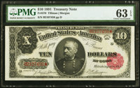 Fr. 370 $10 1891 Treasury Note PMG Choice Uncirculated 63 EPQ