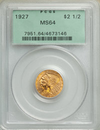 1927 $2 1/2 MS64 PCGS. PCGS Population: (2249/563). NGC Census: (2628/443). CDN: $540 Whsle. Bid for NGC/PCGS MS64. Mint...