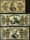 Fractional Currency:Third Issue, Fr. 1292 25¢ Third Issue About New, toned;. Fr. 1335 50¢ Third Issue Spinner Fine;. Fr. 1347 50¢ Third Issue Justice F... (Total: 3 notes)