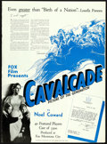 "Movie Posters:Academy Award Winners, Cavalcade (Fox, 1933). Folded, Very Fine. Uncut Pressbook (16 Pages, 16"" X 21.75"").. ..."