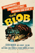 """Movie Posters:Science Fiction, The Blob (Paramount, 1958). Folded, Fine+. One Sheet (27"""" X 41"""").. ..."""