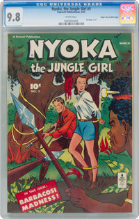 Nyoka the Jungle Girl #5 Mile High Pedigree (Fawcett Publications, 1947) CGC NM/MT 9.8 White pages