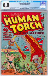 The Human Torch #5 (#4) (Timely, 1941) CGC VF 8.0 White pages
