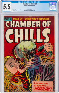 Chamber of Chills #23 (Harvey, 1954) CGC FN- 5.5 Light tan to off-white pages