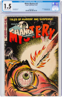 Mister Mystery #12 (Aragon, 1953) CGC FR/GD 1.5 Off-white to white pages