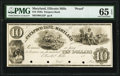 Obsoletes By State:Maryland, Ellicotts Mills, MD- Patapsco Bank of Maryland $10 18__ G22 Shank 43.2.13P Proof PMG Gem Uncirculated 65 EPQ.. ...