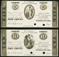 Wilmington, DE- City of Wilmington 5¢; 10¢ May 15, 1837 UNL Proofs Extremely Fine-About Uncirculated. ... (Tot...