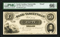 Obsoletes By State:North Carolina, Yanceyville, NC- Bank of Yanceyville $50 18__ as G12 Proof PMG Gem Uncirculated 66 EPQ.. ...