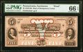 Obsoletes By State:Pennsylvania, Norristown, PA- Bank of Montgomery County $5 18__ G32a Hoober 281-5 Proof PMG Gem Uncirculated 66 EPQ.. ...