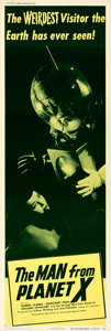 Movie Posters:Science Fiction, The Man from Planet X (United Artists, 1951). Very Fine+ o...