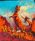 Movie Posters:Science Fiction, The Valley of Gwangi by Frank McCarthy (Warner Bros., 1969). Fine/Very Fine. Original Acrylic Concept Artwork on Acetate (14...
