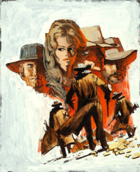 Once Upon a Time in the West by Frank McCarthy (Paramount, 1969). Very Fine. Original Acrylic Concept Artwork on Acetate...