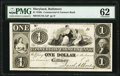 Baltimore, MD- Commercial and Farmers Bank $1 18__ UNL Shank 5.39.4P Proof PMG Uncirculated 62