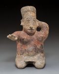 Pre-Columbian:Ceramics, A Jalisco Seated Female Height: 11 ½ inch...