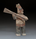 Pre-Columbian:Ceramics, A Colima Warrior with Large Club Height: 1...