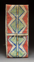 American Indian Art:Beadwork and Quillwork, A Plains Painted Parfleche Storage Envelope c....