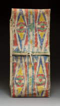 American Indian Art:Beadwork and Quillwork, A Plateau Painted Parfleche Storage Envelope c...