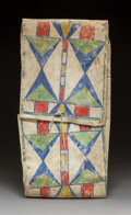 American Indian Art:Beadwork and Quillwork, A Crow Painted Parfleche Storage Envelope c. 1...