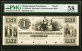 Obsoletes By State:Rhode Island, Providence, RI- Mechanics & Manufacturers Bank $1 18__ as G4 as Durand 1588 Proof PMG Choice About Unc 58.. ...