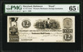 Obsoletes By State:Maryland, Baltimore, MD- Western Mechanics Savings Institution 12-1/2¢ ___ 1839 UNL Shank 5.169.5P Proof PMG Gem Uncirculated 65 EPQ...
